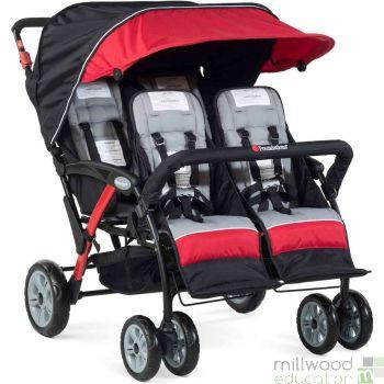 Quad Stroller Red