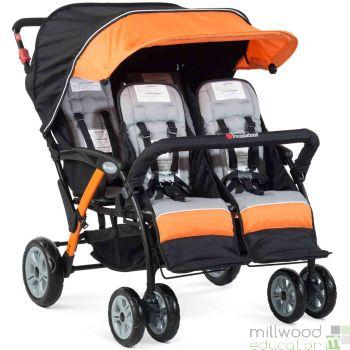 Quad Stroller Orange