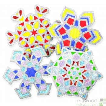 Snowflake Stained Glass Frames