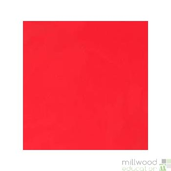 Round Tablecloth PVC Coated Red