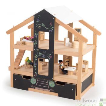 Furnished Open Plan Dolls House