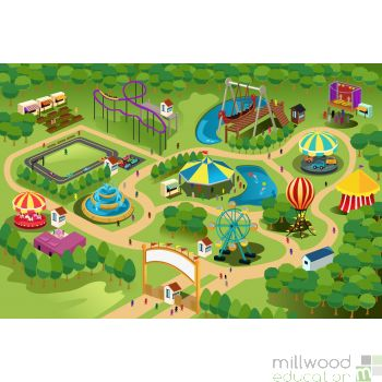 Giant Playmat - Theme park