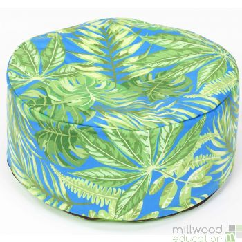 Tropical Bean Pouffe Blue