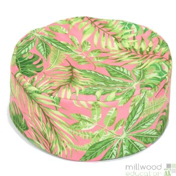 Tropical Bean Pouffe Pink