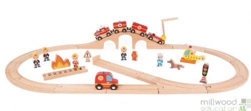 Firefighters Train Set