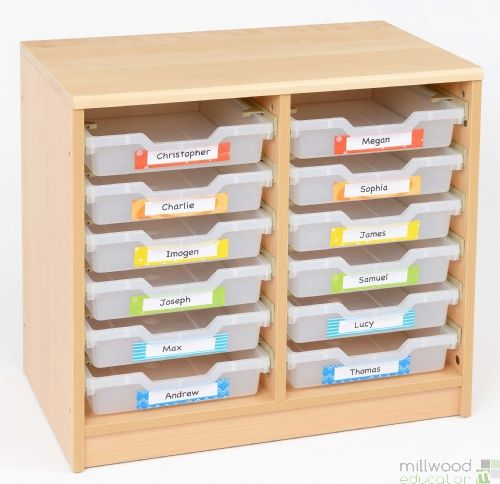 RS 12 Shallow Clear Tray Storage Unit