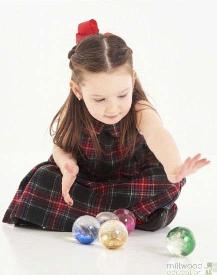 Sensory Rainbow Glitter Balls