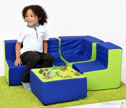Toddler Furniture Set Blue/Lime