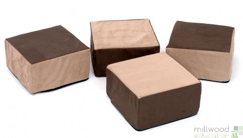 Boxy Buffets - Set of 4 -Natural