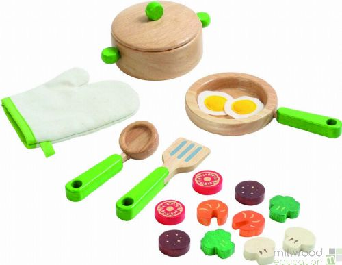 Wooden Kitchenware Set