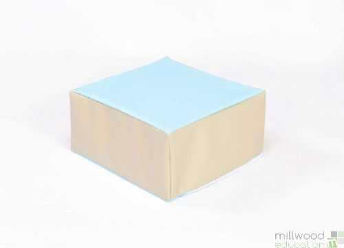 Beige and Sky Blue Toddler Table