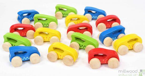 16 Piece Wooden Vehicle Set