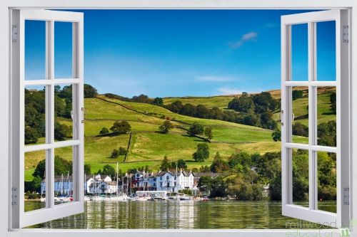 Window to the World - Seaside Village (Medium)