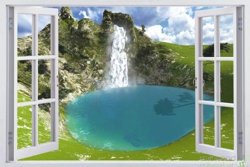 Windows to the World - Waterfall (Medium)