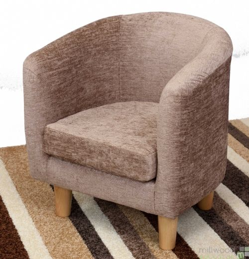 Tub Chair - Caramel Chenille