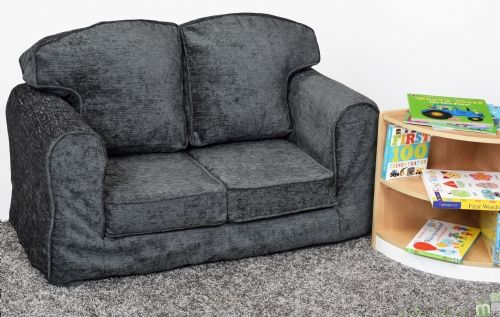 Loose Cover Sofa Charcoal Chenille