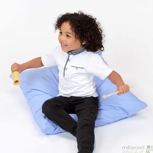 Large Floor Cushion - Light Blue
