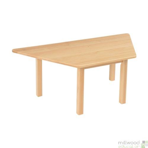 Beech Trapezoidal Table - 53cmH