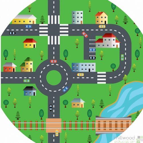 Tuff Tray Playmat (Roadway)