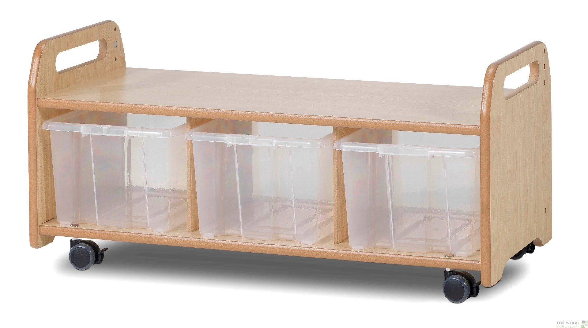 Prime Low Level Storage Bench With Tubs Castors Uwap Interior Chair Design Uwaporg