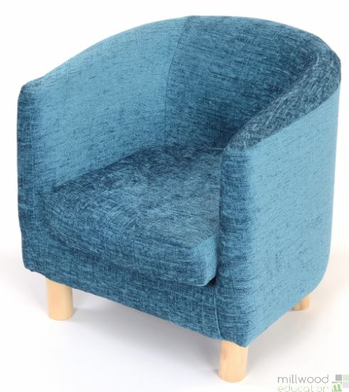 Tub Chair Teal Chenille