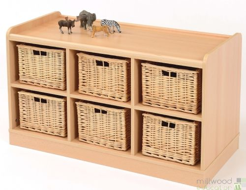 6 Deep Horiz Unit with Willow Baskets