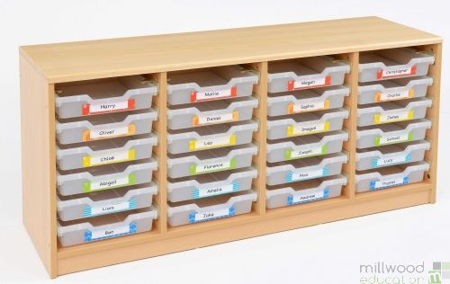 RS 24 Shallow Clear Tray Storage Unit