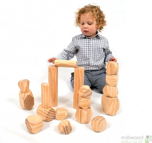 Wooden Boulders and Stacking Logs