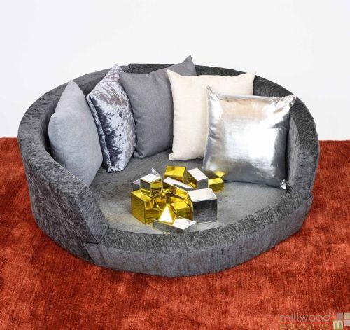 Snuggly Den - Grey Chenille