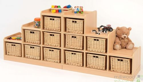 Tiered Units with  Willow Baskets RH and LH