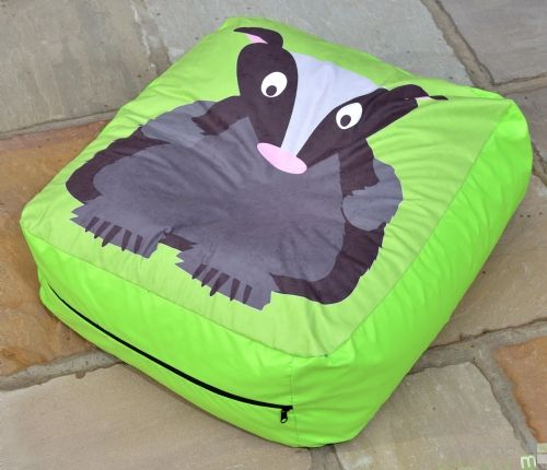 Woodland Bean Cushion BADGER