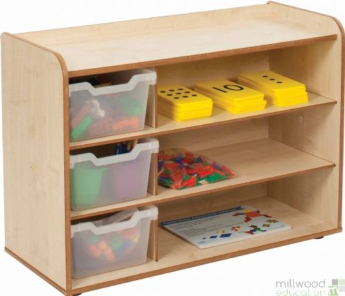 Mini and Toddle 3 Tray & Shelves Clear Trays