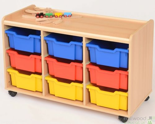 TTS 9 Deep Tray Storage Unit with Coloured Trays