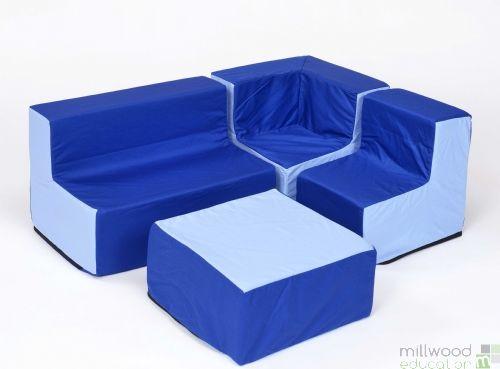 Toddler Furniture Set Blue/Blue