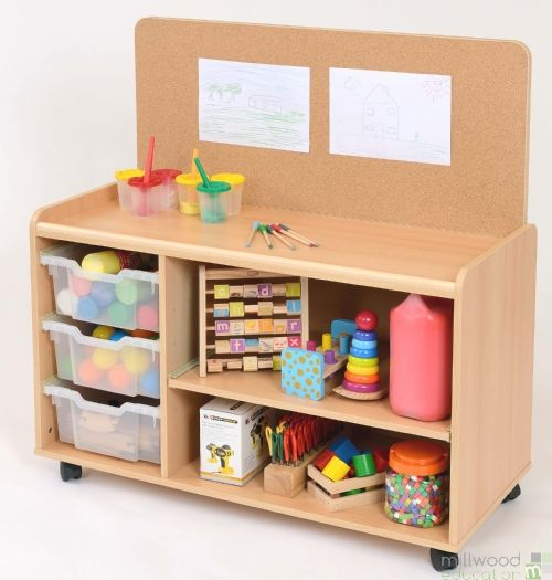 3 Deep TSS Shelf Unit with Cork Panel with Clear T