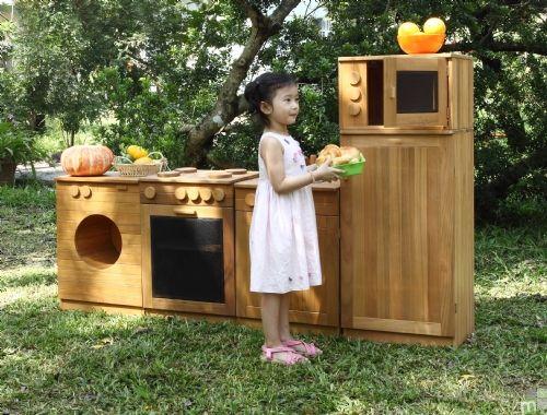Outdoor Wooden Kitchen Set