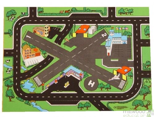 Airport and Road Playmat