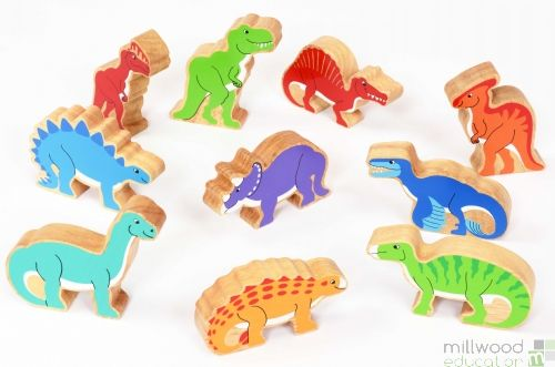 Wooden Animal Sets Dinosaur