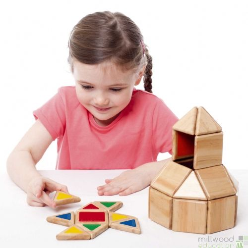 Wooden Magnetic Polydron Set