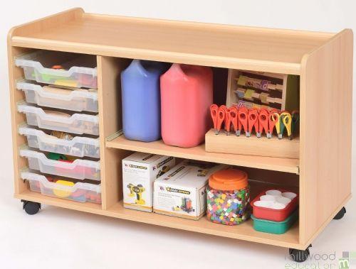 TTS 6 Shallow Tray Shelf Unit with Clear Trays