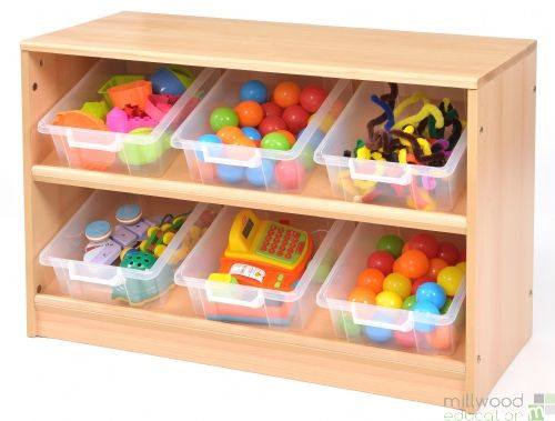 RS Angled Tidy Store Clear Trays
