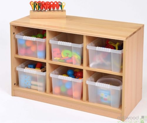 RS 6 Tray Storage Unit with Clear Trays