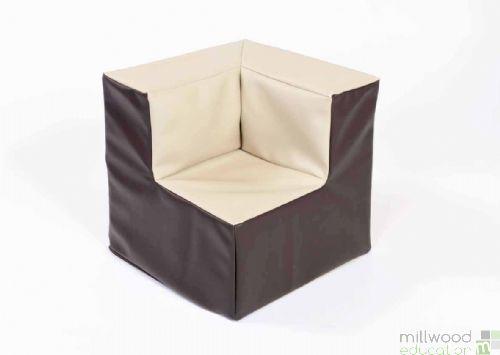 Beige and Chocolate Pre School Corner Chair