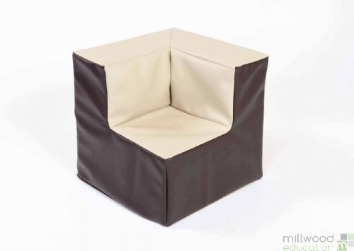 Beige and Chocolate Toddler Corner Chair