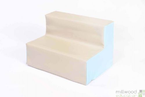 Beige and Sky Blue Toddler Sofa