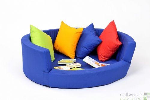 Snuggly Den - Blue Cotton