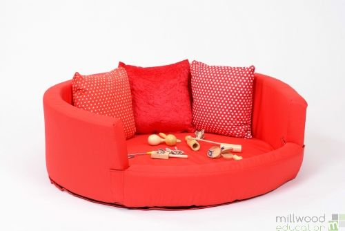 Snuggly Den - Red Cotton
