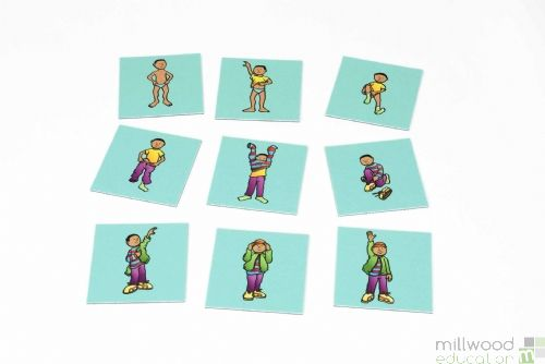 Sequencing Tiles (Dressing Boy)