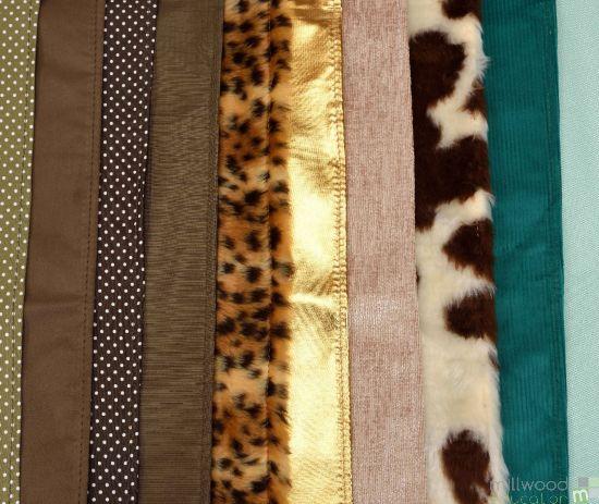 Fabric Pack of 10 100 x 50cm