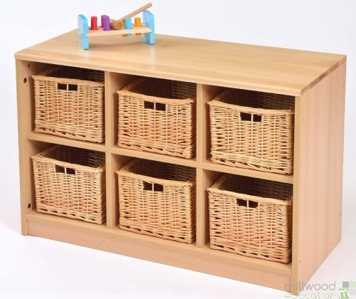 RS 6 Tray Storage Unit with Willow Baskets